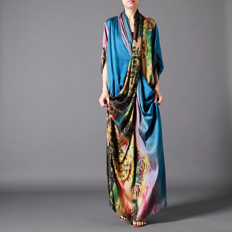 Asia Scenery Colourful Maxi Dress