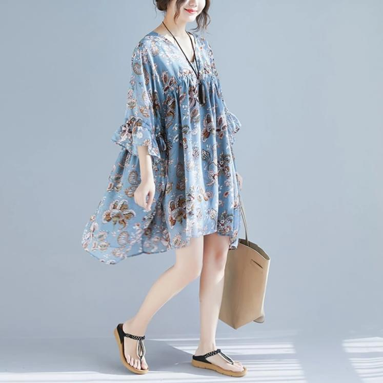 Buddha Trends Dress Butterfly Sleeve Chiffon Top