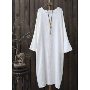 Casual Zen Oversized Cotton Dress | Zen