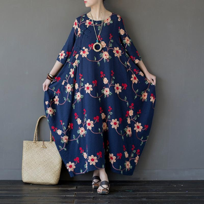 Floral Beauty Embroidered Maxi Dress