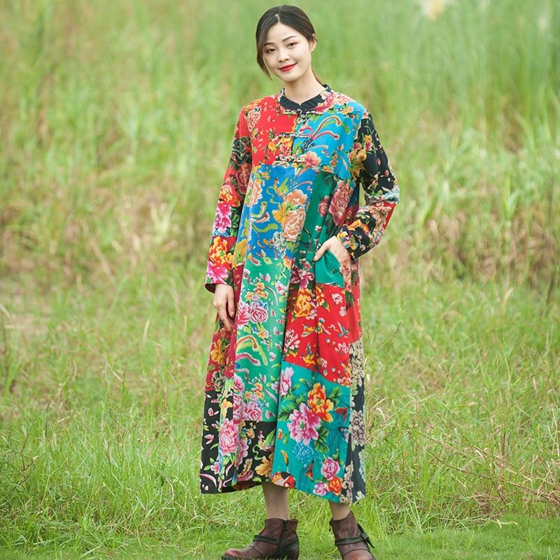 Floral Patchwork Chinese Dress  | Zen