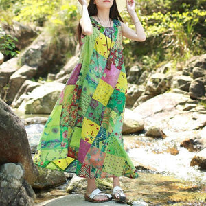 Sweet Dreams Patchwork Hippie Dress