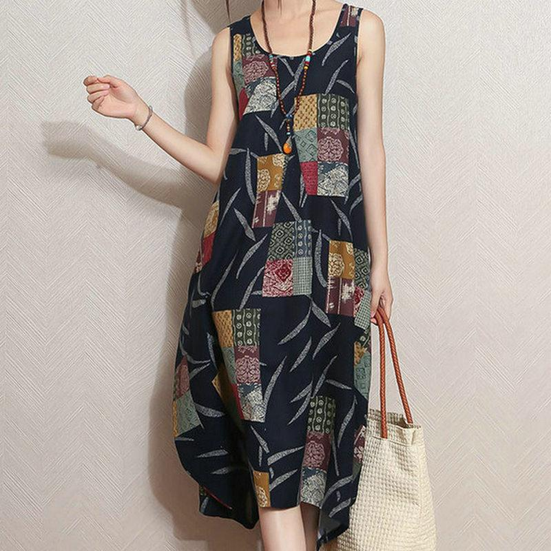 Patchwork Lily Hippie Dress