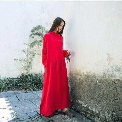 Hooded Linen Dress  | Zen