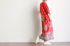 Φόρεμα Buddha Trends Royal Dragons Linen Dress
