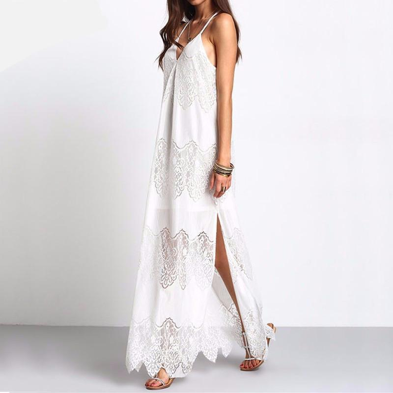 Buddha Trends Dress White / S Plus Size Long Maxi Bohemian Dresses