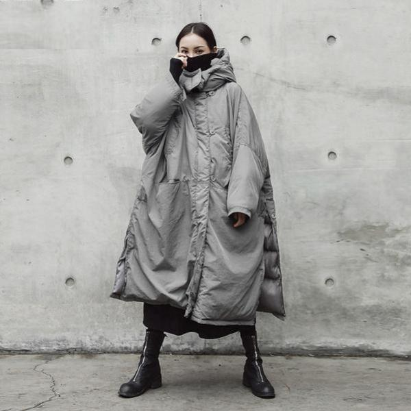 Buddha Trends Grey / One Size Extreme Oversized Grey Puffer Coat