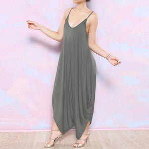 Φόρεμα Flowy Harem Buddha Trends Gray / XS Plus