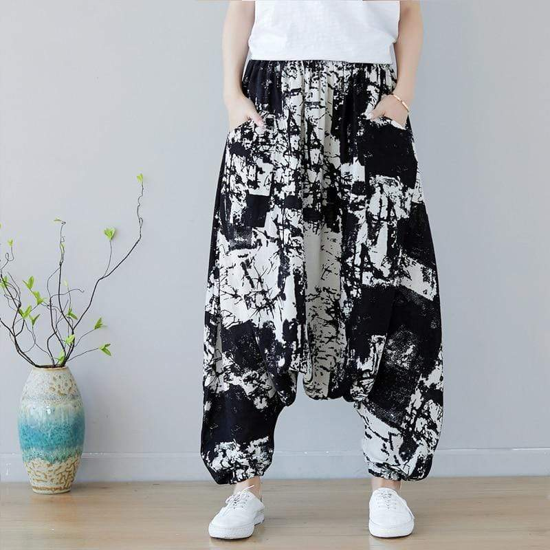 Buddha Trends Harem Pants Abstract Art Inspired Harem Pants