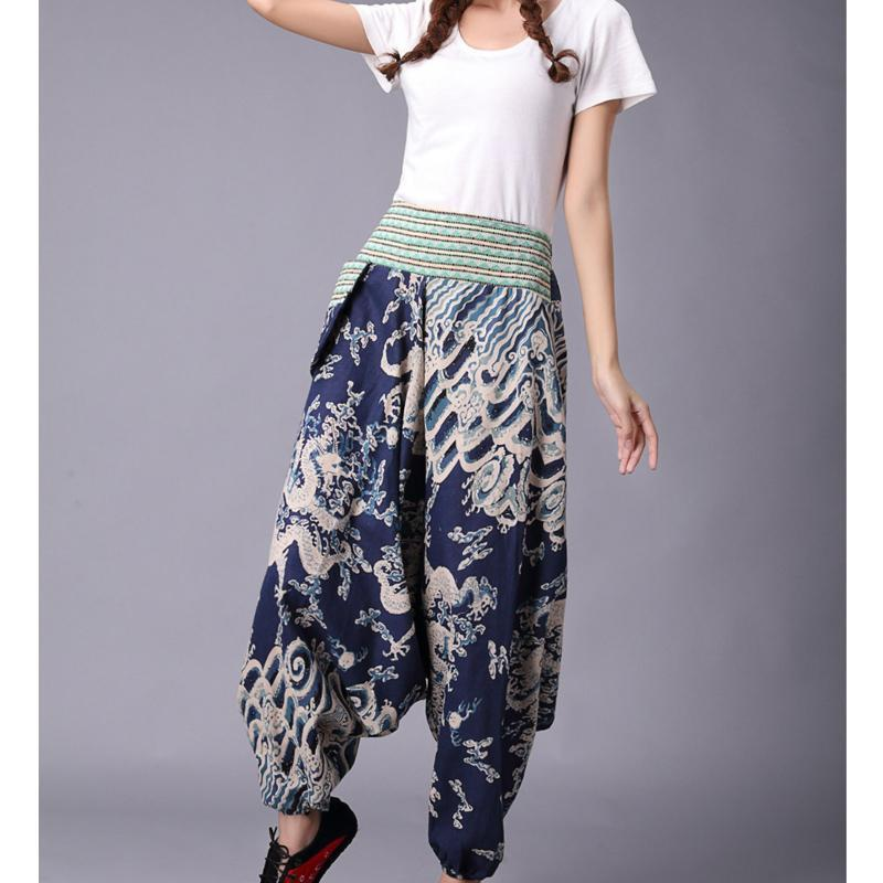 Buddha Trends Harem Pants Blue / One Size Dragon Harem Pants