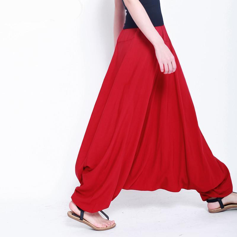 Buddha Trends Harem Pants Red / M Multiple Colors Casual Plus Size Harem Pants