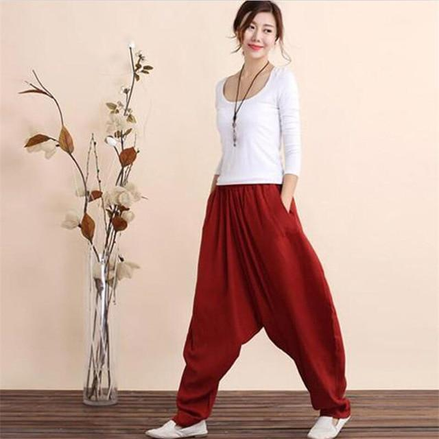 Buddha Trends Harem Pants Plus Size Cotton Linen Harem Pants