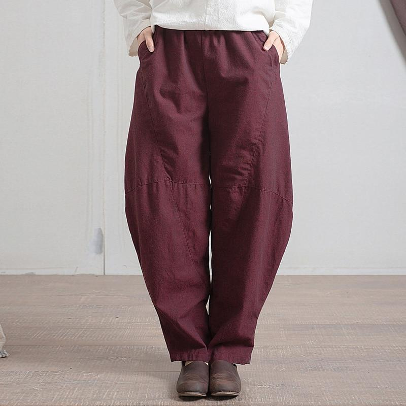 Buddha Trends Harem Pants Blue / One Size Boyfriend Cotton Pants  | Zen