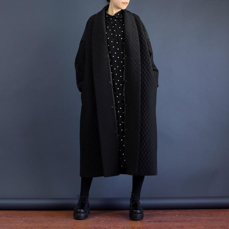 Buddha Trends Loose Oversized Black Trench Coat