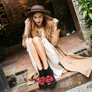 Floral Ankle Boots της Mary Trends Mary Jane