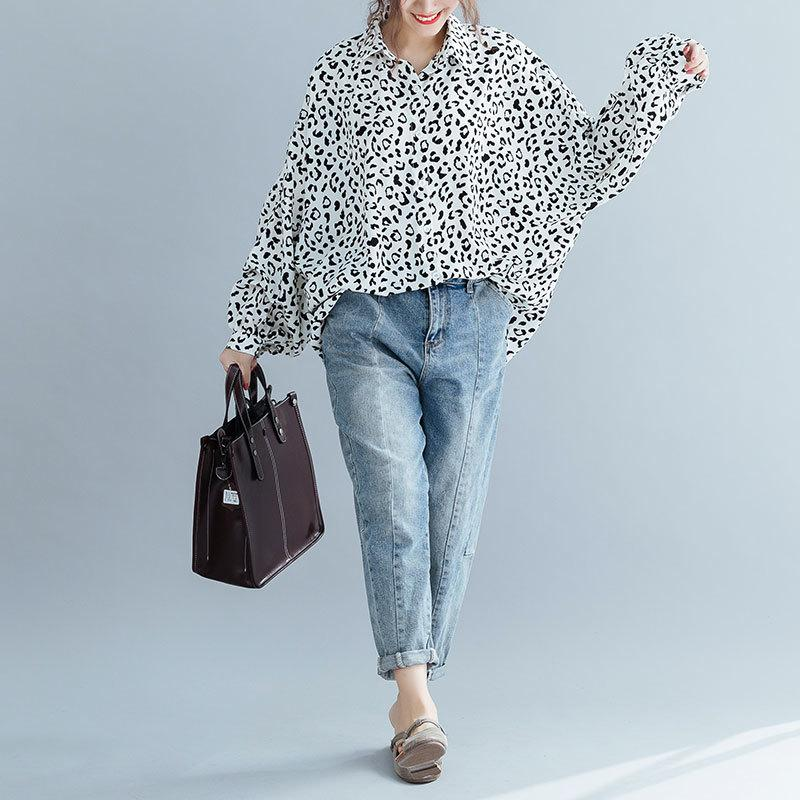 Buddha Trends One Size / Black and White Black and White Leopard Print Blouse