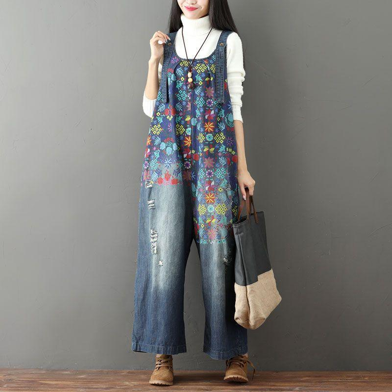 Buddha Trends One Size / Blue Floral Vintage anni '90 in generale