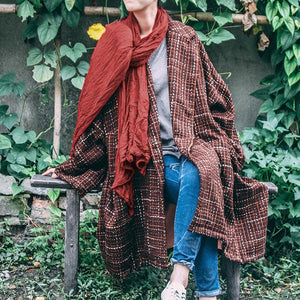 Vintage Plaid Oversized Coat | Lotus