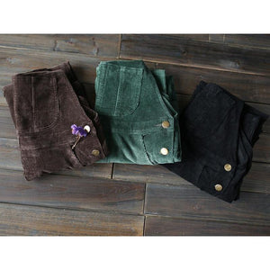 Green Corduroy Overall