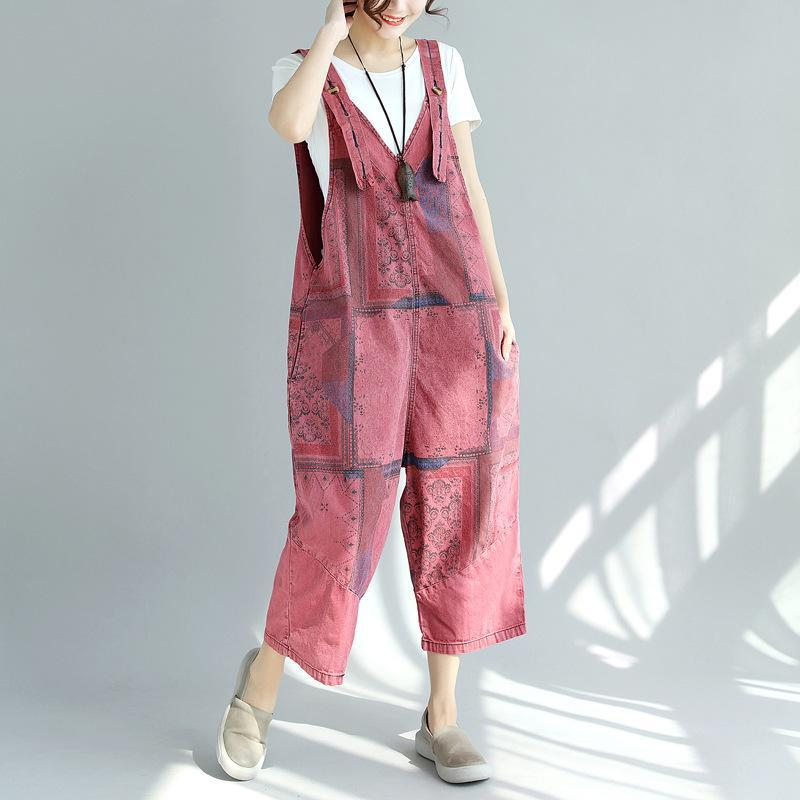 Red Tribal Plus Size Overall