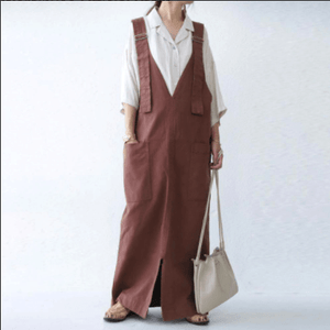 Buddha Trends Overall Kleid Grunge Style Loose Overall Dress
