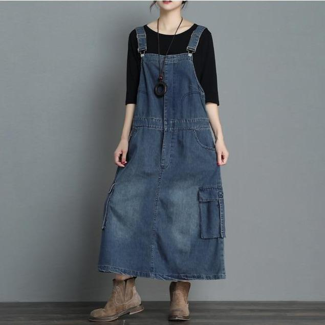 Buddha Trends Overall Kleid On Time Denim Overall Kleid