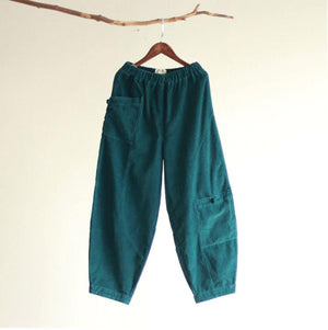 Loose Corduroy Pants With Pockets