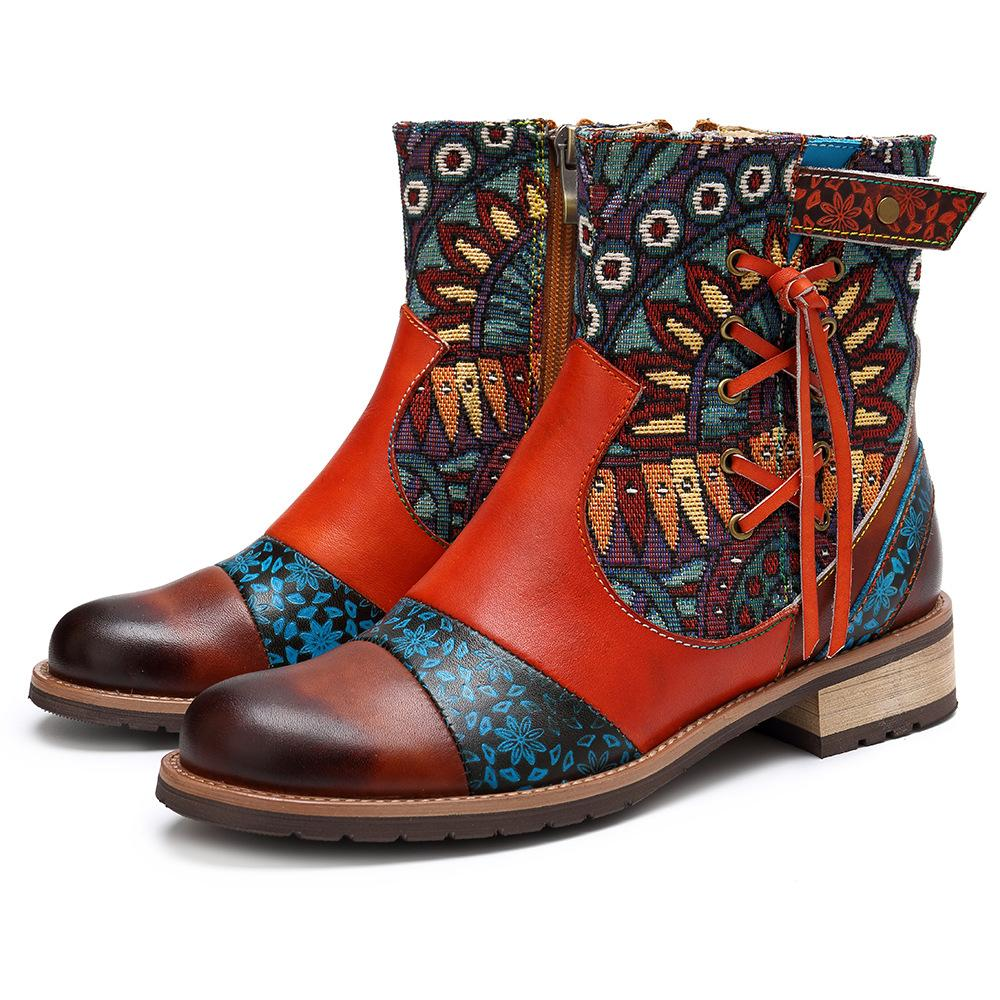 Buddha Trends Peace Boho Hippie Ankle Boots