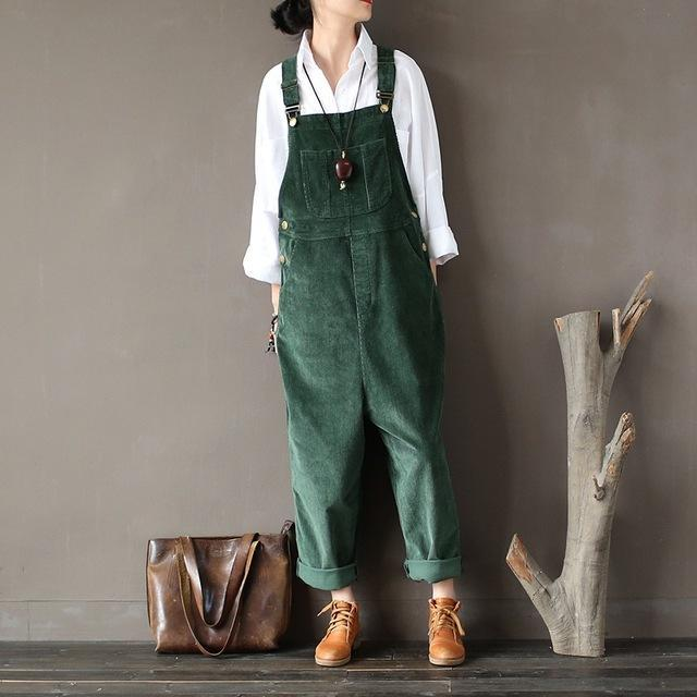 Buddha Trends Plus Size 90er Jahre Cord Overalls