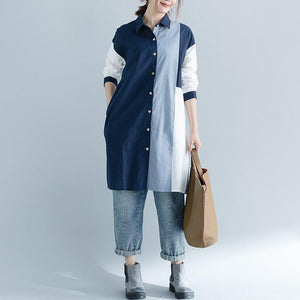Polar Patchwork Cotton Loose Cardigan