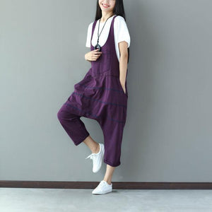 Buddha Trends Purple / One Size Low Crotch Loose Denim Συνολικά