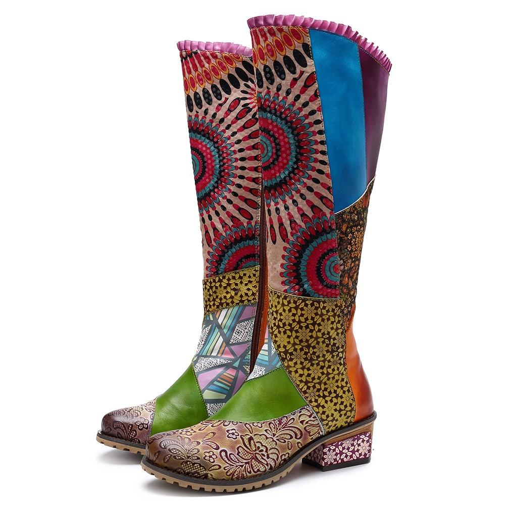 Buddha Trends Raya Sunshine Boho Hippie Knee High Boots