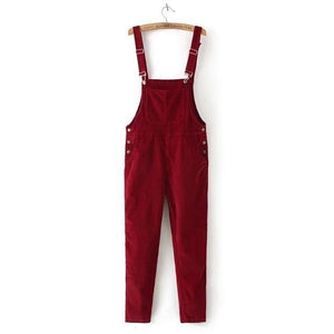 Buddha Trends Red / S Cord 90er Jahre Overalls