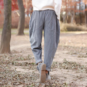Buddha Trends Rolled Vintage Cordhose