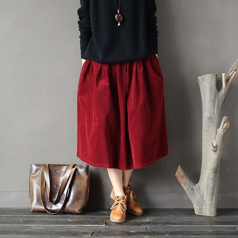 Buddha Trends Skirts Old School Corduroy Skirts