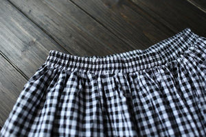 Black and White Plaid Vintage Skirt