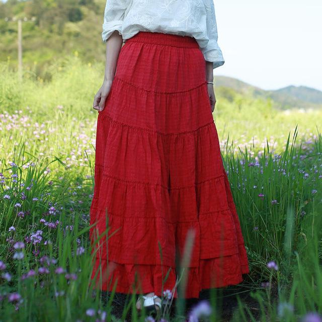 Buddha Trends Skirts Peaceful Heart Maxi Skirt