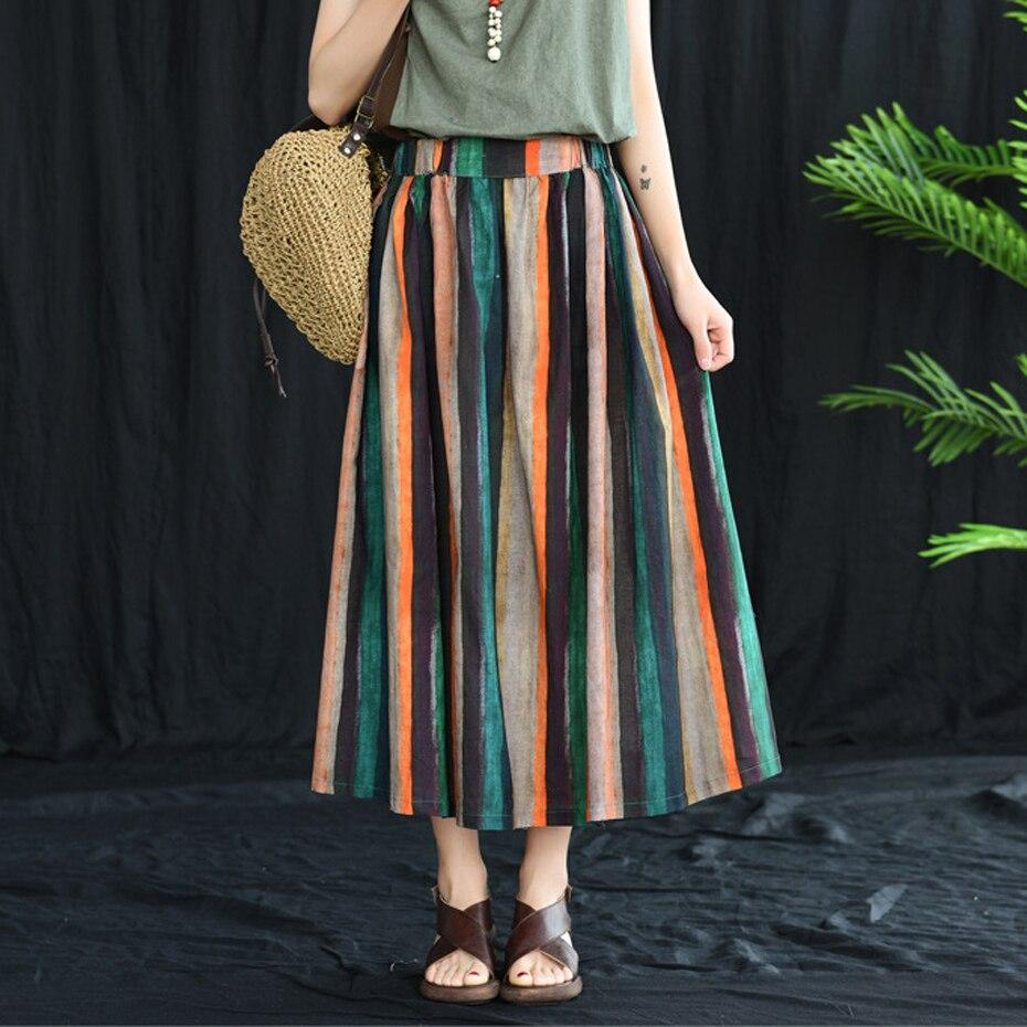 Pure Vintage Striped Skirt