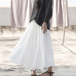 Vintage White Cotton Skirt | Lotus