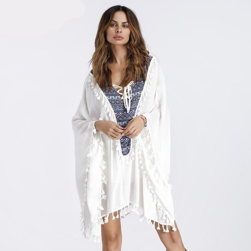 Flowy Batwing Sleeves Oversized Boho Tunic