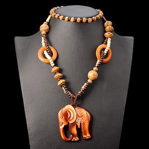 Tribal Elephant Holzkette