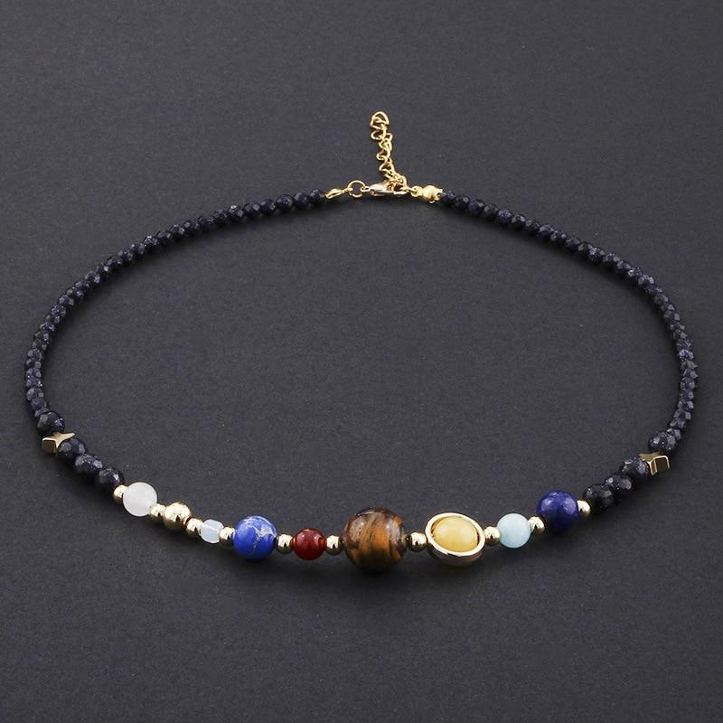 Universe Planets Beads Necklace