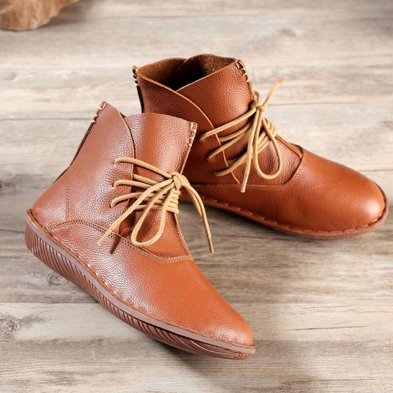 Vintage Soft Leather Ankle Boots