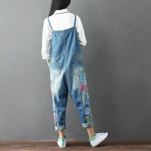 Wide Leg Floral Denim 90S Συνολικά