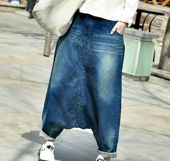 Extreme Low Crotch Streetstyle Harem Jeans