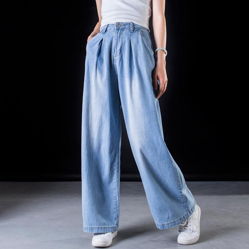 Light Blue Wide Leg Jeans