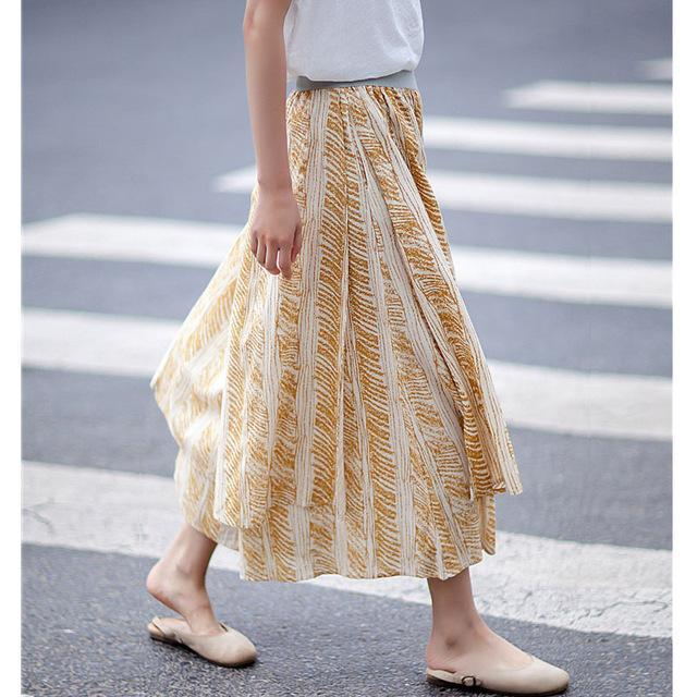Buddha Trends 3/4 Length Printed Palazzo Pants