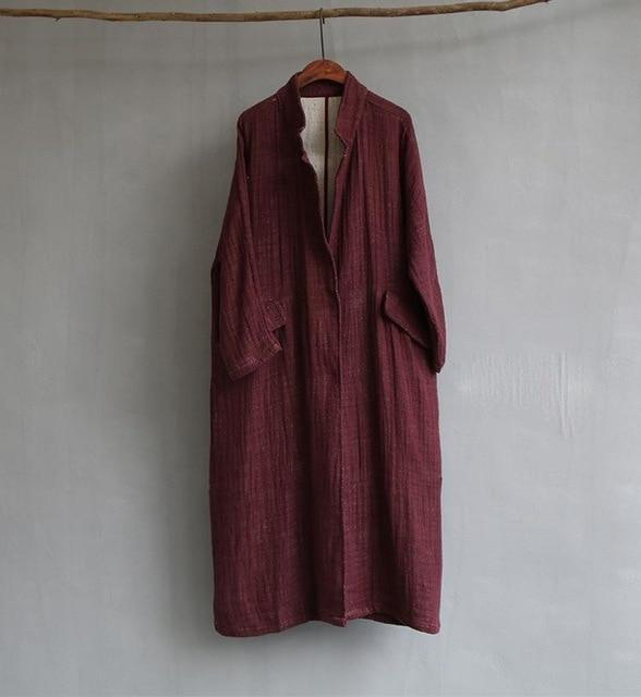 Autumn Vibes Linen Trench Coat