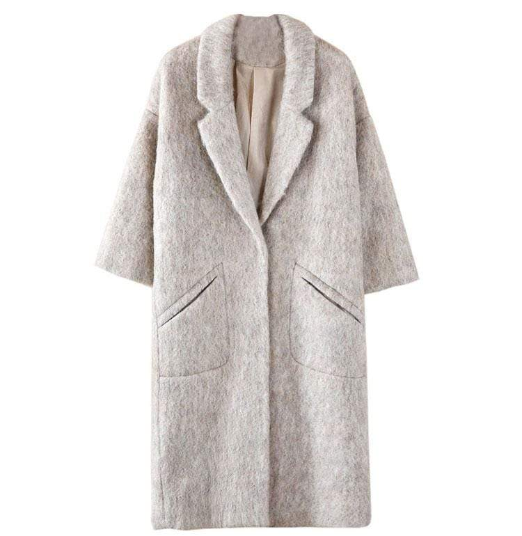Boho Chic Oversized Wool Coat