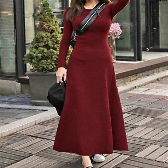 Plus Size Long Sleeve Winter Dress